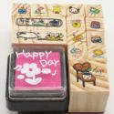 Rubber stamps, 14 pieces, (ZYZ097)